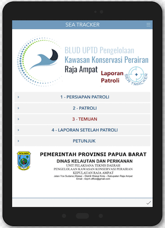SEA TRACKER Raja Ampat Marine Park Authority